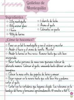 ♣ Galletas de colores receta de galletas de mantequilla: