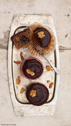 Ořechové muffiny s povidly