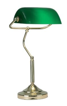 Bankers Table Lamp Polished Br Finish Oaks