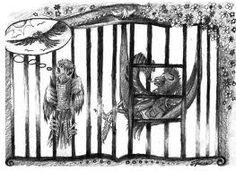 """""""Ptaszki w klatce"""". Bajka ta to rozmowa dwóch czyżyków. Młody urodzony w klatce mówi, że jest mu w niej dobrze. Urodzony na wolności mówi, że źle czuje się w klatce.  Możemy  wnioskować z tej bajki, że życie na wolności chociaż w złych warunkach jest lepsze niż w niewoli."""