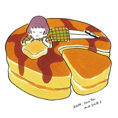 Pancake - Illustration by Saaya Masaki.