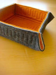 felt basket -- cute!