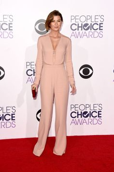 Ellen Pompeo in  an Elie Saab jumpsuit and Christian Louboutin shoes - People's Choice Awards - Elle