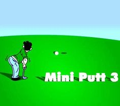 Mini Putt 3 - Mini Putt 3 is the 3rd installment in the popular Mini Putt (Mini Golf Game) series. The aim of the game is to complete all levels in as few strokes as possible. There are a total of 18 levels in this game. A score card is shown after each level is completed. The physics of the game is quite realistic. There are lots of object to make the game difficult and enjoyable, for example bounce pads, windmills, water, grass and mini hills.