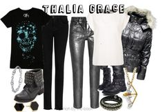 Outfit inspired by Thalia Grace from Rick Riordan's Percy Jackson & the Olympians series