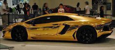 Gold Covered Lamborghini Aventador