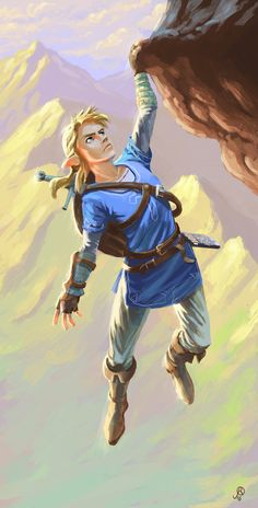 Link Climbing. Breath of the Wild by JoanRedondo