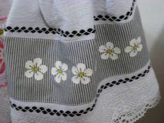 Resultado de imagem para panos de pratos bordados com sianinhas