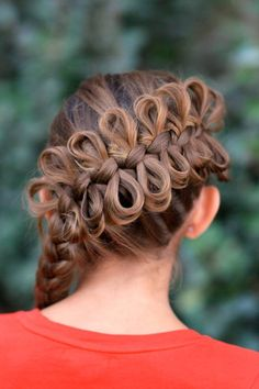 bow braid hair