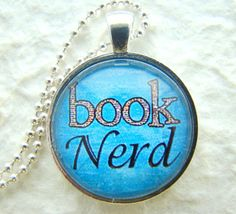 Book Nerd Pendant necklace Book Lover by ExpressioneryPendant, $8.75