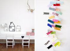 Washi_tape_trend_3 Washi Tape, Kids Room, Sweet Home, Diy, Inspiration, Home Decor, Biblical Inspiration, Room Kids, Decoration Home
