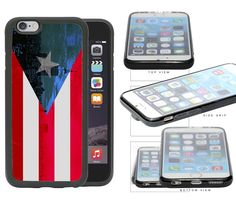 Puerto Rico Flag with New York City Background Rubber TPU Cell Phone Case Cover iPhone 6 (4.7 INCH SCREEN). Full access to all ports & buttons. Molded to fit perfectly. Light weight. Durable. ATTENTION: ONLY FITS iPhone 6 (4.7 inch) Screen.