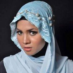 Idea               POWDER BLUE HIJAB DAINTY AND FEMININE!