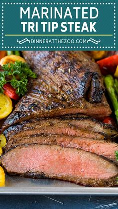The best tri tip marinade for perfectly tender beef every time! Best Beef Recipes, Best Dinner Recipes, Grilling Recipes, Lunch Recipes, Cooking Recipes, Supper Recipes, Steak Recipes, Amazing Recipes, Delicious Recipes