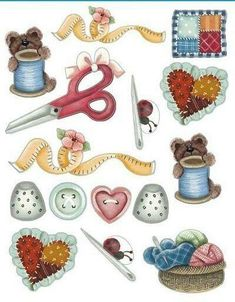"""Képtalálat a következőre: """"decoupage paper"""" Sewing Art, Sewing Tools, Sewing Crafts, Sewing Projects, Love Sewing, Sewing Notions, Sewing Clipart, Diy And Crafts, Paper Crafts"""