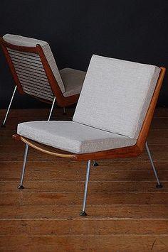 elegant shape;-)__Boomerang Chairs by Hvidt and Molgaard