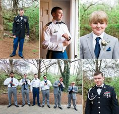 Military outdoor wedding #military #wedding #spring #navy #grey #groomsmen #groom #cedarwoodweddings photos by Krista Lee Photography