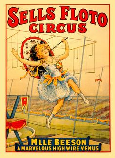 ARTEFACTS - antique images: Circus Poster — for personal use only
