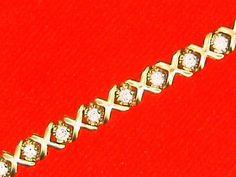 Ladies 14 kt Gold Diamond Bracelet