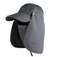 New Brand Fishing Hiking Bucket Hats For Men Women Removable Foldable Portable Fisherman Hat Outdoor Sunscreen Caps S058