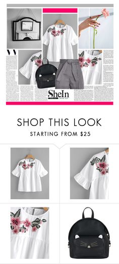 """""""Flower shirt"""" by cutebaby-i ❤ liked on Polyvore featuring Accessorize, Zimmermann and shein"""