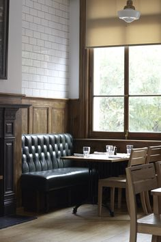 Tom's Kitchen, London. You can always a reserve a quiet corner table on the 1st floor bar....
