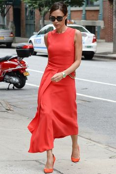 Best Dressed Of The Week - Victoria Beckham in a Victoria Beckham red dress