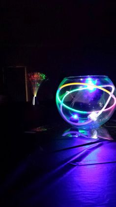 Black light party. Glow in the dark. Colorful Centerpiece