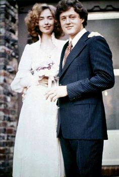 Bill and Hillary Clinton's wedding day, 1975.