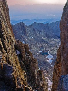 Owens Valley California   view e. between needles: Pinnacle Ridge, Alabama Hills, Owens Valley ...