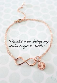 Personalized Rose Gold Infinity Bracelet - Infinity charm, rose gold filled, forever love, bridal, b Bracelet Infinity, Armband Infinity, Infinity Charm, Best Friend Quotes, Best Friend Goals, My Best Friend, Sister Friend Quotes, Cute Best Friend Gifts, Forever Love