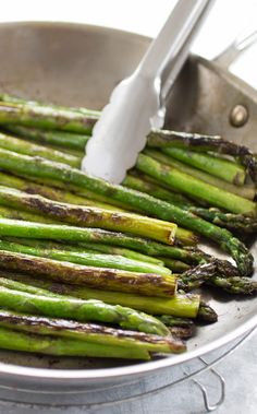 Pan-Roasted Asparagus.
