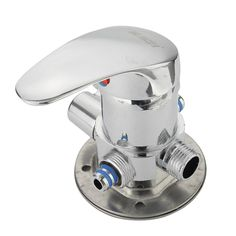 Chrome 1/2 Inch Hot and Cold Water Faucet Diverter Bathroom Shower Valve Mixer Tap Wall Mount