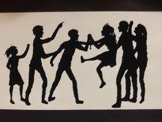 Social art silhouettes - great idea for shape.
