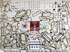cm, mixed media on paper, 2015 Paper Artwork, Buy Art, Saatchi Art, Abstract Art, Original Art, Collage, Symbols, Stickers, The Originals
