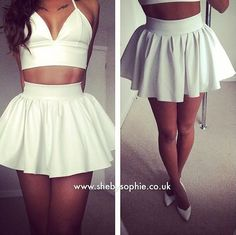 New Ladies Sexy Black Party White Extra Short Flared Tutu Pleated Mini Skirt