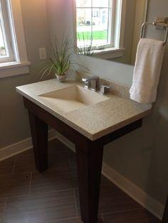 Concrete Countertop With Integral Ramp Slot Sink   Grand Rapids, MI   Hard  Topix,