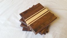 Handcrafted Wooden Coasters by AkersOfWoodDesigns on Etsy