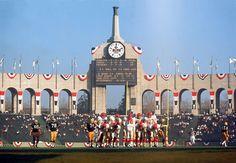 The Los Angeles Memorial Coliseum during Super Bowl I. I would love it if they brought Super Bowl L here in 2016, but I doubt that will happen
