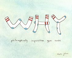 philosophically inquistive gym socks - Marc Johns