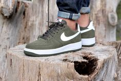 Nike Air Force 1 Cargo Khaki/ White - 820266-301