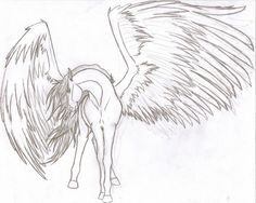 pencil drawings of angels and demons Horse Drawings, Pencil Drawings, Art Drawings, Wings Drawing, Angel Drawing, Fantasy Wesen, Android Wallpaper Dark, Demon Wings, Angel Wings