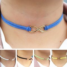 N2030 Infinity Cross Chokers Necklaces For Women Leather Suede Choker Necklace Collares Fashion Jewelry Bijoux Colar 2017 NEW