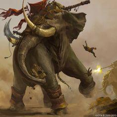 War Elephant by ISOTXART.deviantart.com on @DeviantArt