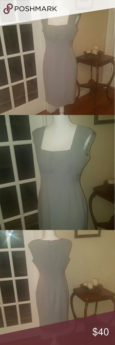 Gray Calvin Klein professional dress size 6 Beautiful gray Calvin Klein professional dress. Size 6. Falls right past the knees.  In excellent condition, absolutely no signs of wear. Calvin Klein Dresses