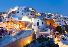 The jumbled, whitewashed houses of Oia are not that different in style to the dwellings of the ancient Therans, which can still be seen at the ancient site of Akrotiri.