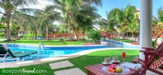 At El Dorado Royale, an all inclusive adults-only resort in the Riviera Maya, Mexico, you can enjoy a gourmet breakfast outside before taking a dip in the pool at your private swim-up. #honeymoon #wedding #travel #mexico