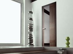 Hinged wooden door STONE PLUS Energy Collection by Ghizzi