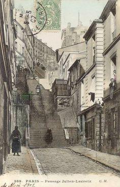 Paris postcard - Passage Julien Lacroix 1900