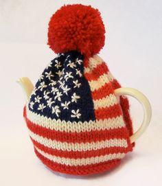 f2b5606162f Ravelry  Amercian Flag Tea Pot Cosy pattern by Ruth Maddock Tea Cosy Knitting  Pattern